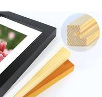 Hot Selling Cheap simple A4 A3 A2 A1 black white Wood Poster picture photo frames with Mat for home decor