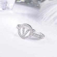 26 букв простые изысканные серебряные Регулируемые кольца очаровательные женские персональные кольца подарок(Китай)