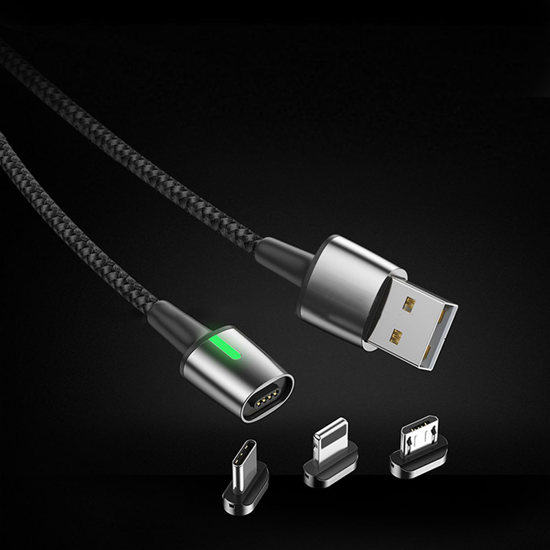 3 in 1Cell Phone Magnetic  Fast Charge Micro Multi Usb Charger Data Sync Cable 5A for Mobile Charging  c Type Lightning usb