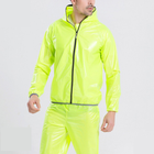 Moisture absorbing and breathable raincoat