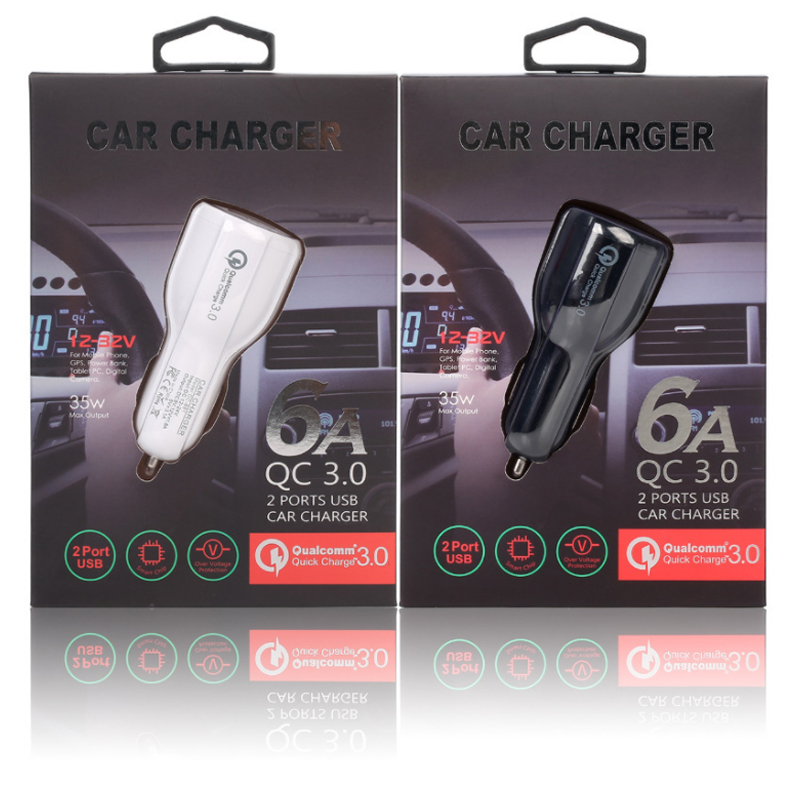 Hot Selling Factory Dual-USB Quick Charge Car Charger With Led