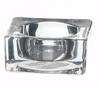Wholesale Cheap New Design Creative Gift Smoke Glass Customized Crystal Ashtray