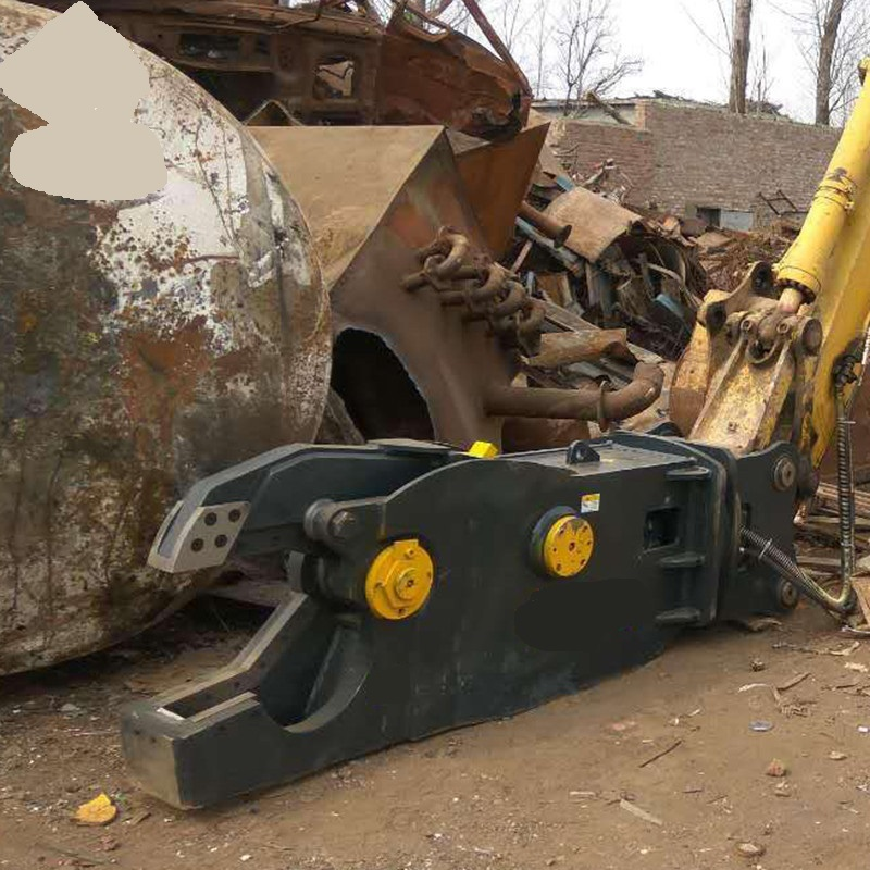 Hydraulic rotating pulverizer scrap metal shear for excavator