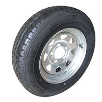 Factory wholesale155R13C light Truck Trailer tire and white black coated/ galvanised steel wheel