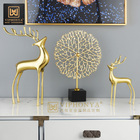 Deer Table Gold Luxury Deer Home Living Room Cafe Console Coffee Table Metal Decor