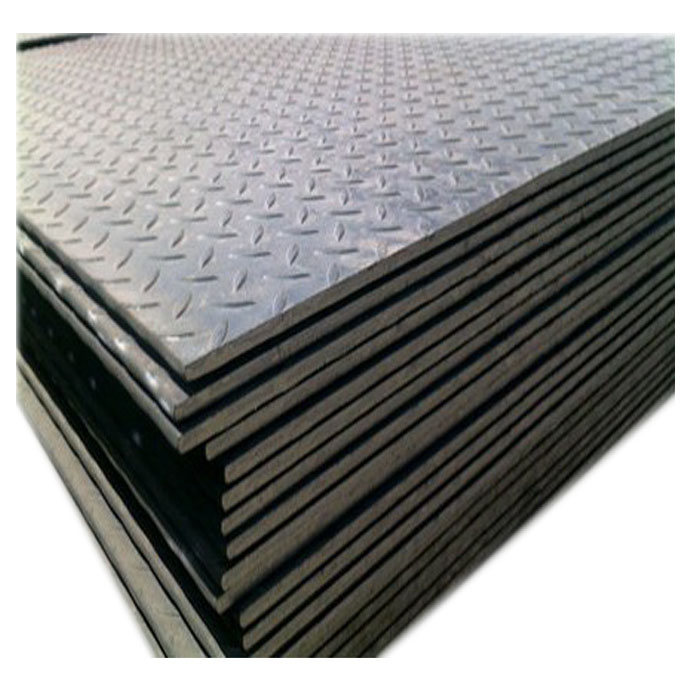 Ms s235 chequered telhas peso 4.5 milímetros anti-slip aço carbono xadrez placa de piso