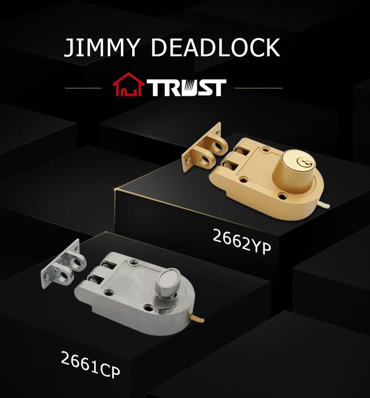 CONFIANCE J2662 YP Jimmy Preuve L'impasse Double Cylindre En Laiton Couleur