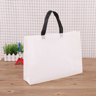 Sublimation Fabric Sublimation Shopping Bag Customizable Blank Sublimation Non Woven Fabric Carry Shopping Bag Laminated Bag With Compartment Inside