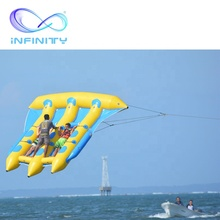 Commercial Lake Sea Inflatable flying fish towable ของเล่นน้ำพอง saturn สำหรับผู้ใหญ่