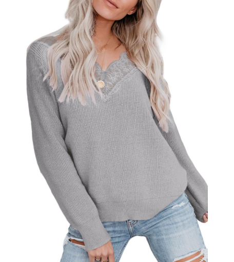 Autumn Season long sleeve round neck Pullover keep warm Jumper woman knitted loose sweater