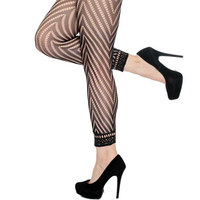 Sexy hosiery fashion fishnet footless women sexy black pantyhose
