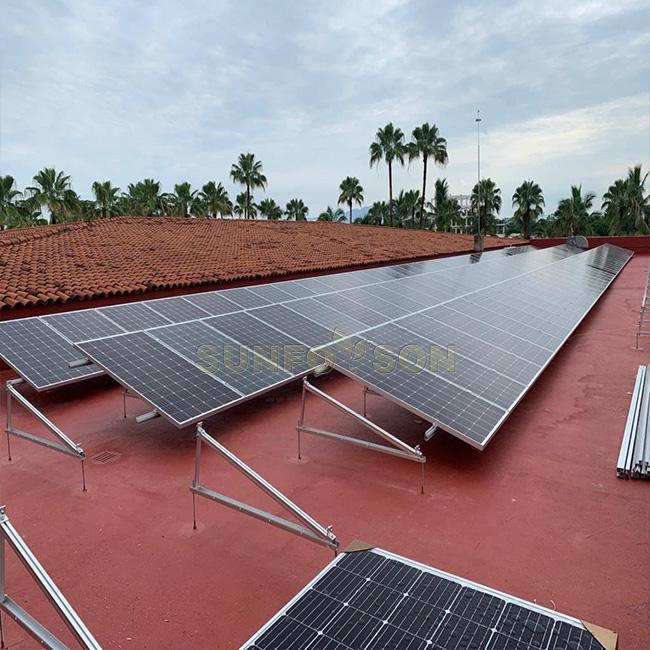 Aluminium solar panel bracket installation/solar panel angle mounting bracket/triangular support mount system