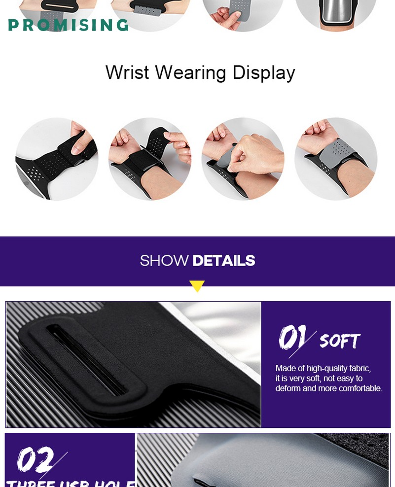 Wholesale cell phone pouch for running Custom Personalized Smartphone Fitness Neoprene Jogging Elastic Running Phone Sport Armband