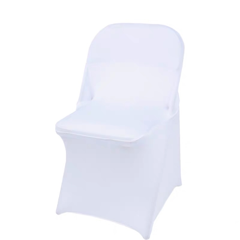 Wedding Dinner Decoration White Spandex Folding Chair Covers Banquet Event Chair Cover