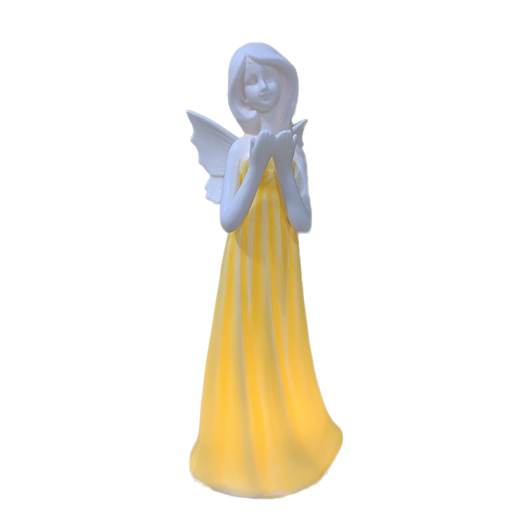 Quality Materials Ceramic Beautifully Crafted Angel Night Light Statue