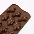 Cartoon Silica Gel Mould 12 Cavity Dinosaur Chocolate Mold for Cake Decorating