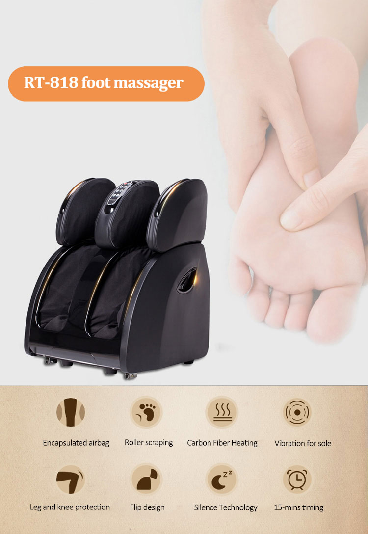 foldable electric infrared foot scrubber massager vibration