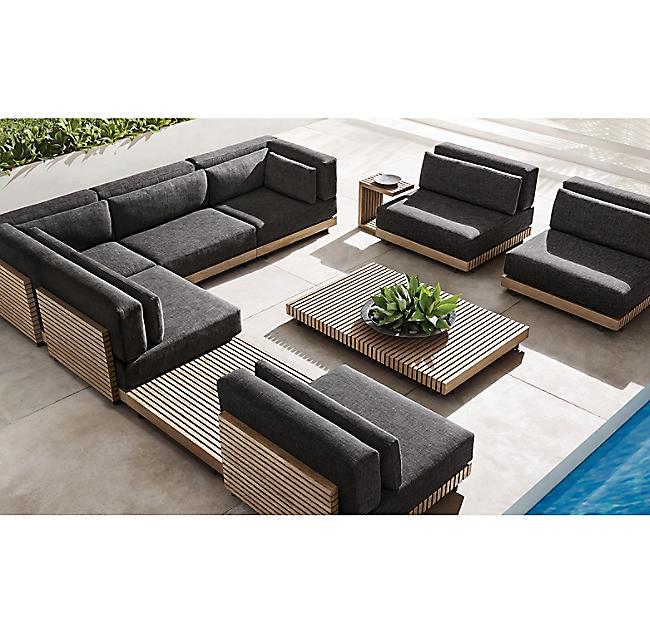 New design solid wooden furniture Myanmar teak garden set