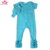 Wholesale Icing Romper Turquoise Cotton Long Leg One Piece Jumpsuit Infant Ruffle Icing Romper With Bow Headband