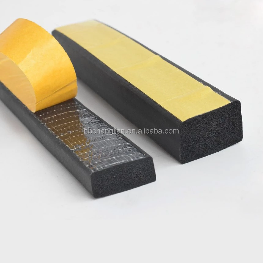 Silicone and EPDM Rubber Sponge weather strip