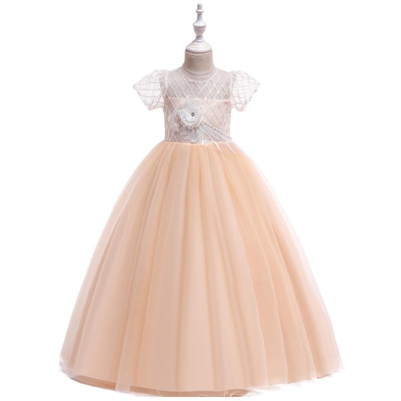 Children's wedding dress princess dress mesh princess girl piano show dress