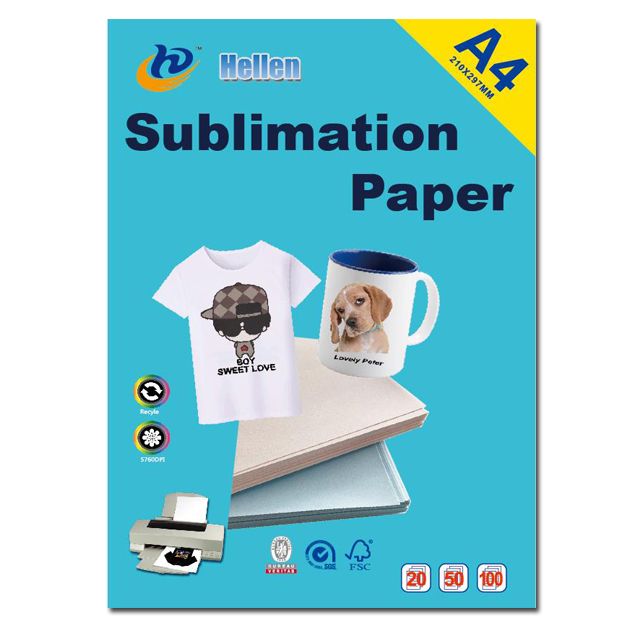 Wholesale A4 pink sublimation paper A3 paper sublimation transfer paper blue for white t-shirt mug