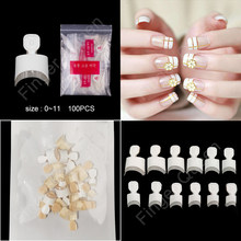 10 моделей типсов для ногтей 100 шт французские балерины искусственные ногти стилеты Типсы для ногтей типсы для маникюра искусственные ногти(Китай)
