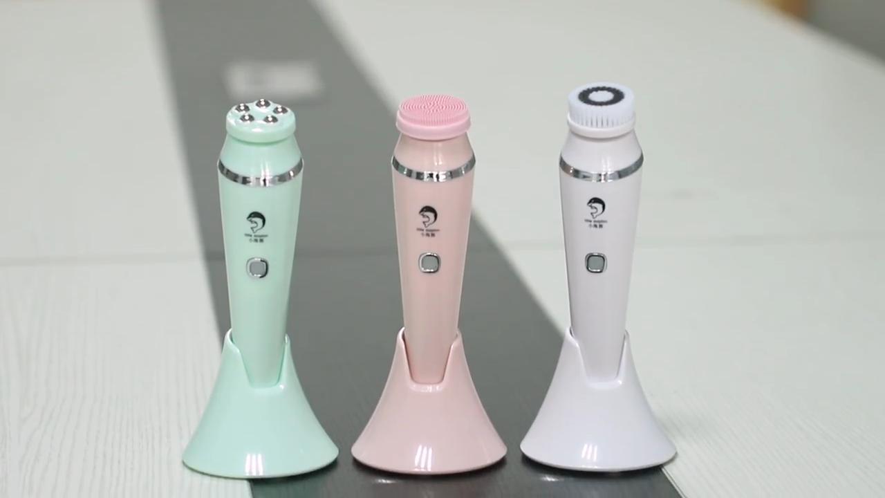 2020 meilleur produit de vente 4 en 1 brosse de nettoyage faciale électrique outil de nettoyage du visage dispositif de massage du visage