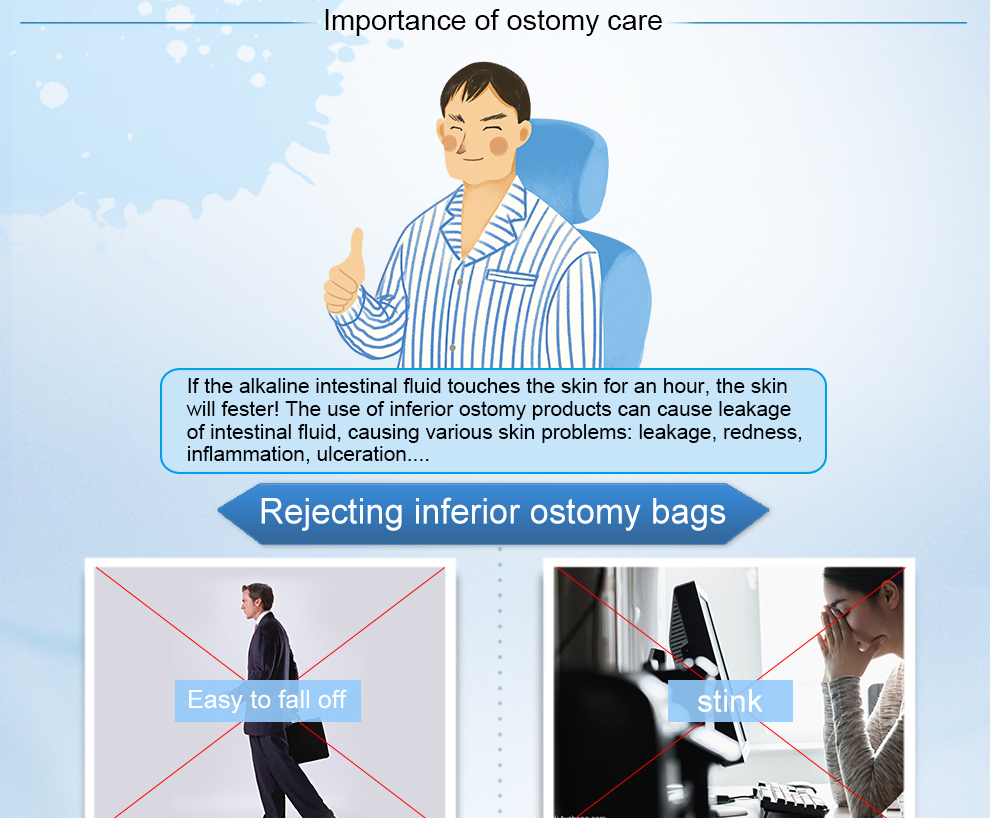 One-Piece Pediatrics Stoma Care Supplies Disposal Stoma Bag Cover