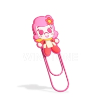 PVC cute girl animal unique fancy Plastic Paper clips