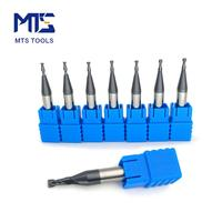 MTS milling cutter HRC45 tungsten carbide reduced neck square end mill shank 4mm