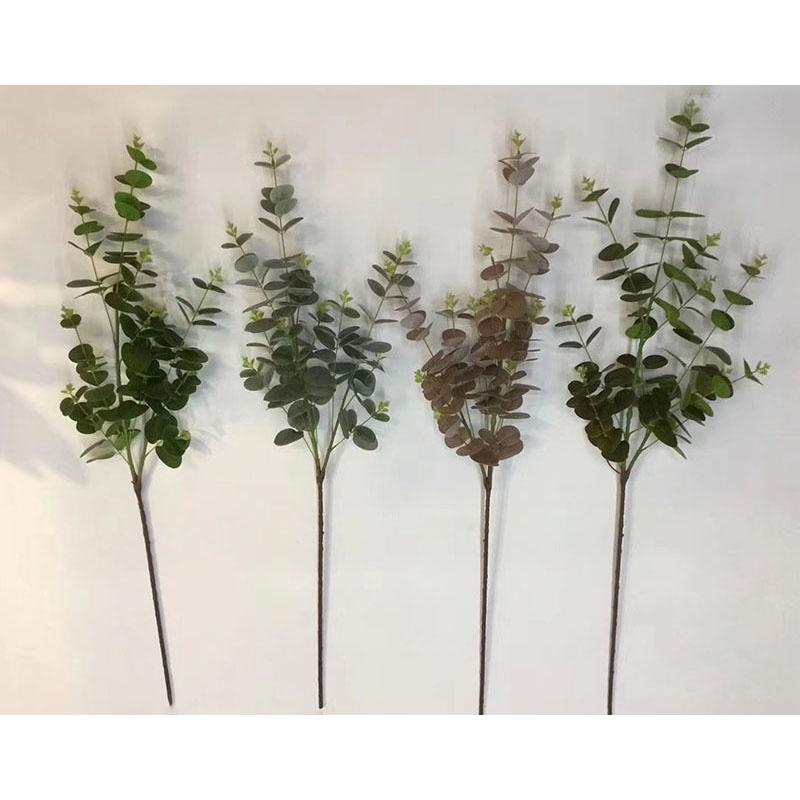 LF659 חם מכירות סימולציה צמחים מלאכותי אקליפטוס עלים עבור בית תפאורה גן