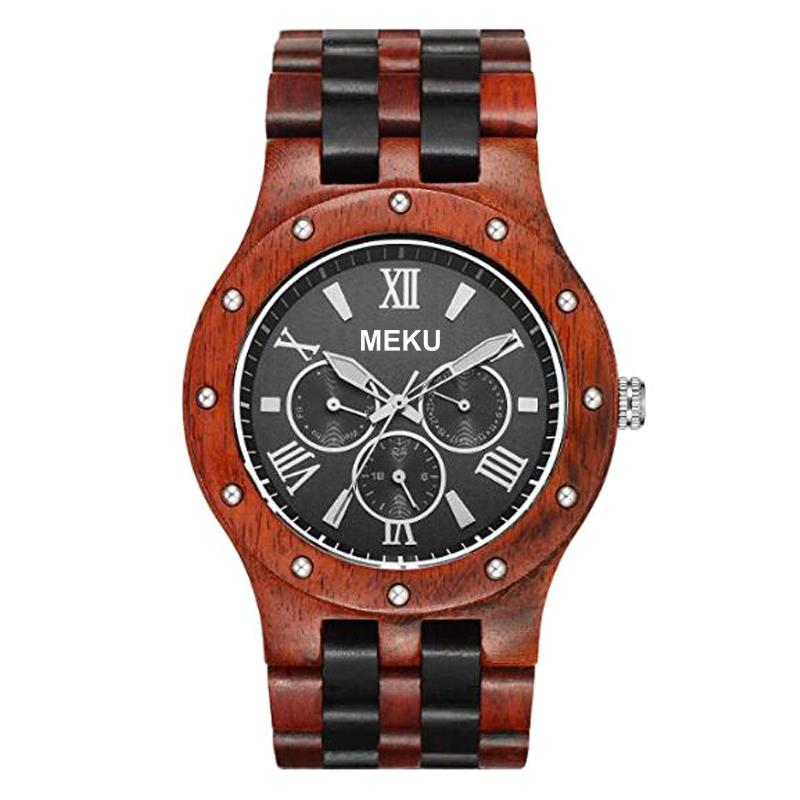 ウォッチファッションジュエリーブレスレット促進製品クリスマスギフト卸売ヴィンテージウォッチレロジオ Masculino 木製腕時計