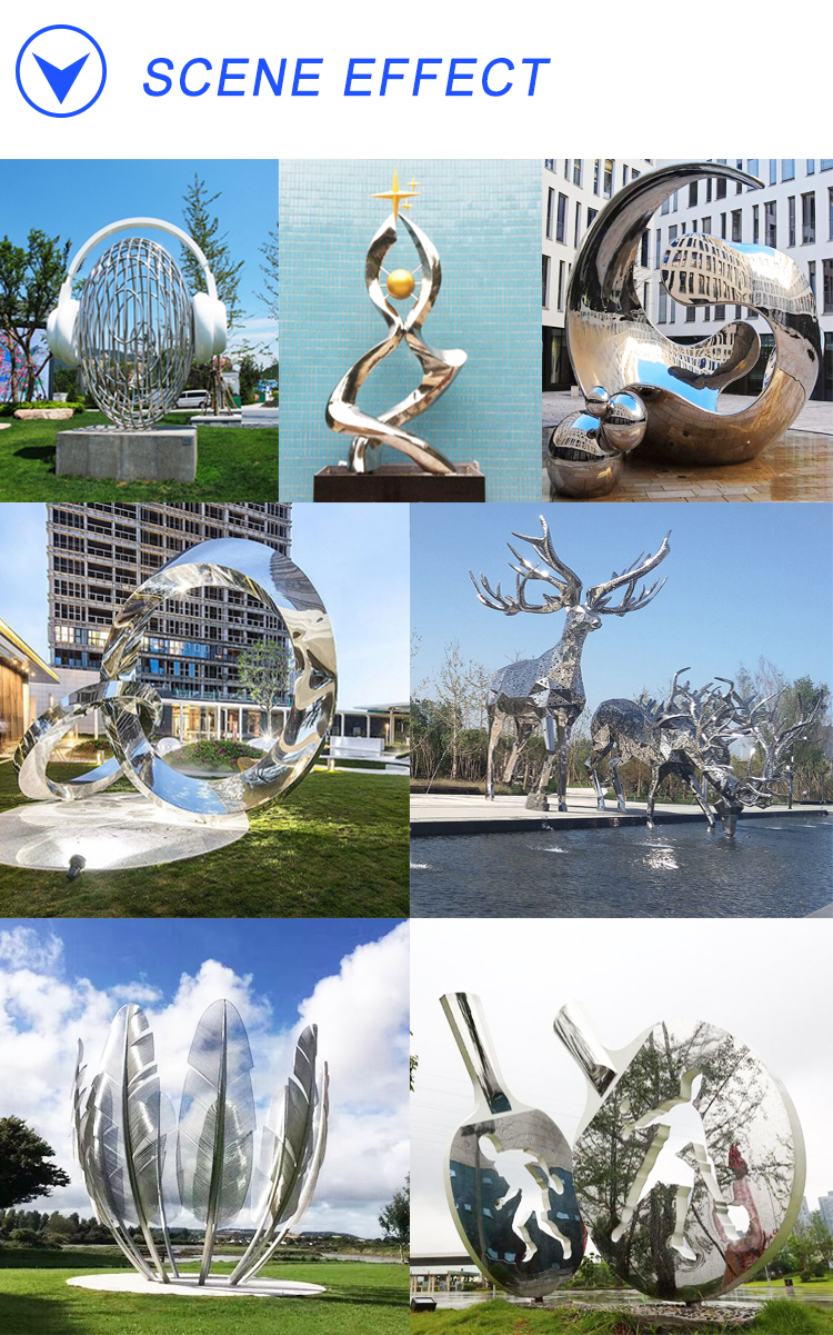 Y769 Stainless Steel Welded Metal Art Outdoor Decoration Moon Sculpture