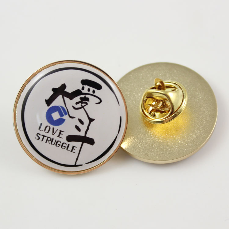 Promotion <strong>custom</strong> <strong>metal</strong> <strong>badge</strong> with sticker