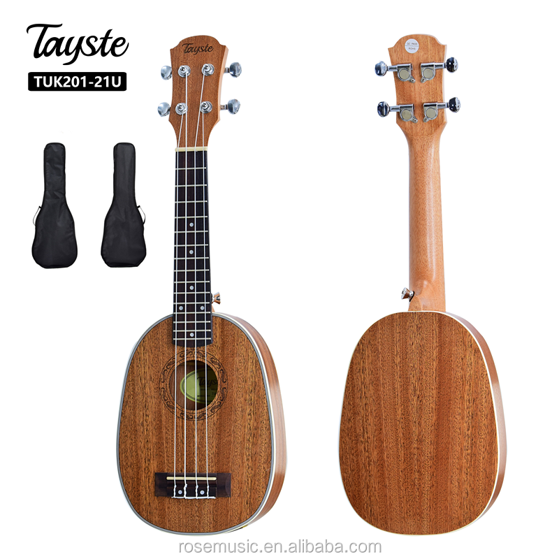 China musical instrument factory  high quality special shape OEM brand  pineapple soprano  21inch ukulele kit for the child