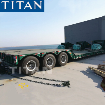 TITAN 3 axle 60tons low bed trailer for excavator detachable gooseneck lowboy trailer price for sale