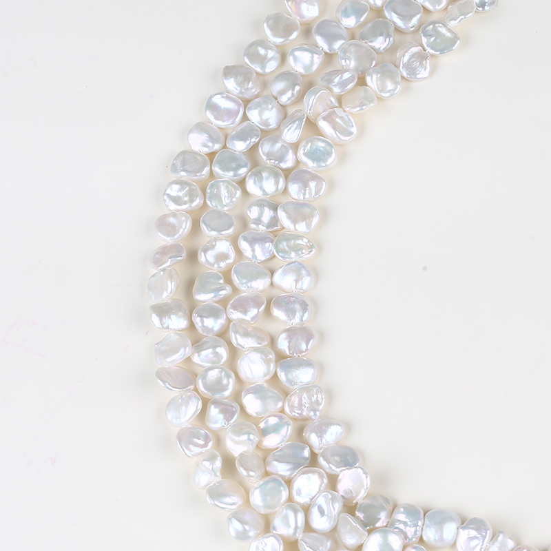 8mm natural white keshi pearls for jewellery making