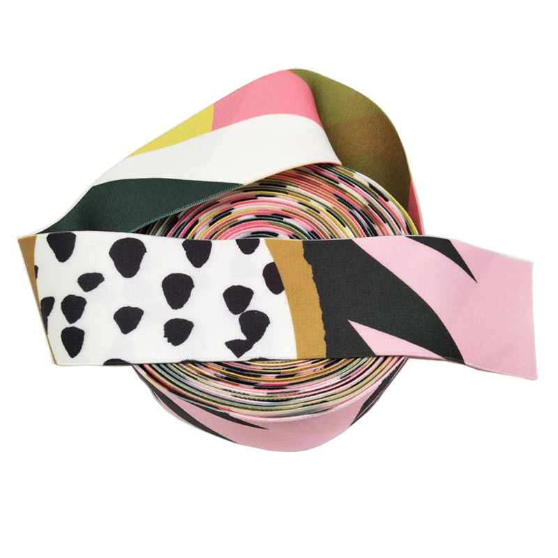 Factory Custom Printed Elastic Ribbon Jacquard Nylon Webbing Band For Underwear And Clothes