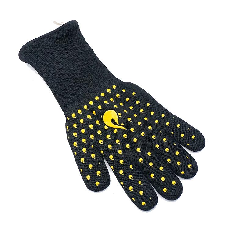 GLOVEMAN Heißer BBQ Handschuhe Wärme Resistant Küche Backofen Mitts Professionelle Lange Heat Resistant Kochen Handschuhe für Grillen und Rauch