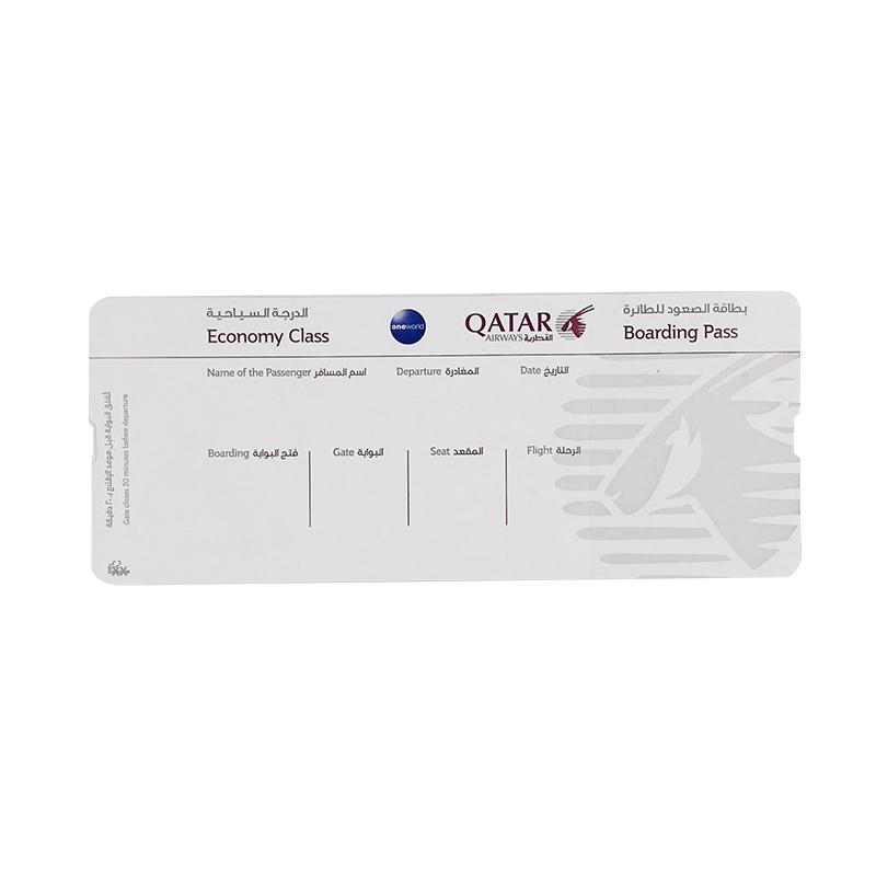 סיטונאי Custom תרמית נייר כרטיס עלייה למטוס הדפסת כרטיס טיסה