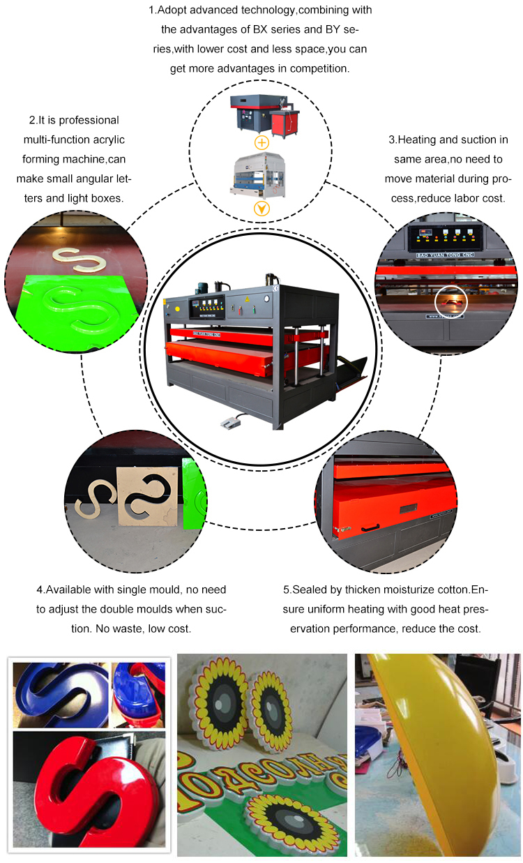 Многофункциональная Пластиковая акриловая ABS PC PS вакуумная формовочная машина Термоформовочная Машина