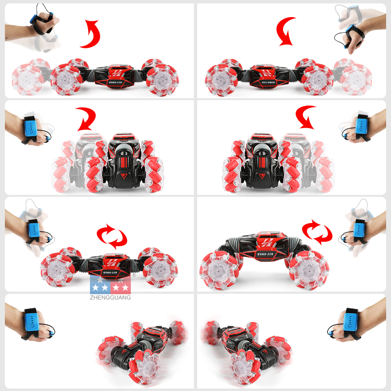Zheng Guang Watch Control Car Gesture Induction Twisting Off-Road Vehicle Light Music Dancing Side Driving Toy RC Remote Control