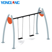 YL-QQ007 Kids Play Sets Attractive Appearance 2 Seats Outdoor Garden Swing Sets