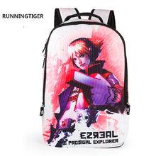 LOL игра Teemo Ezreal студенческий рюкзак 3D мультфильм школьные сумки Детская водонепроницаемая сумка Детский персонаж для мальчиков и девочек По...(Китай)