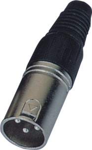 Factory hot selling audio cable connector xlr connector plated for microphone cable