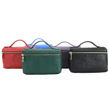 the middle east embossed ostrich leather small clutch bag lady hand bag