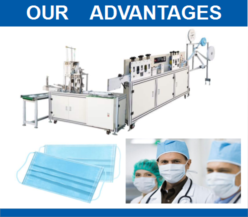 1-1-3ply Automatic Disposable Surgical Medical Face Mask Making Machine