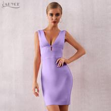 Женское вечернее бондажное платье ADYCE, розовое облегающее платье с глубоким V-образным вырезом, открытой спинкой, для клуба, для лета, 2020(Китай)