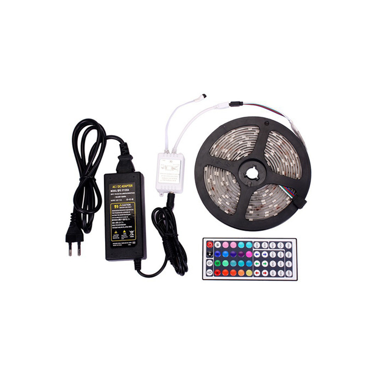 16.4ft SMD 5050 RGB Led Strip Light with Remote DC12V Waterproof IP65